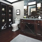 Handsome Cherry Wood Bathroom