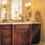 Beautiful Bathroom with Mohogany Cabinets