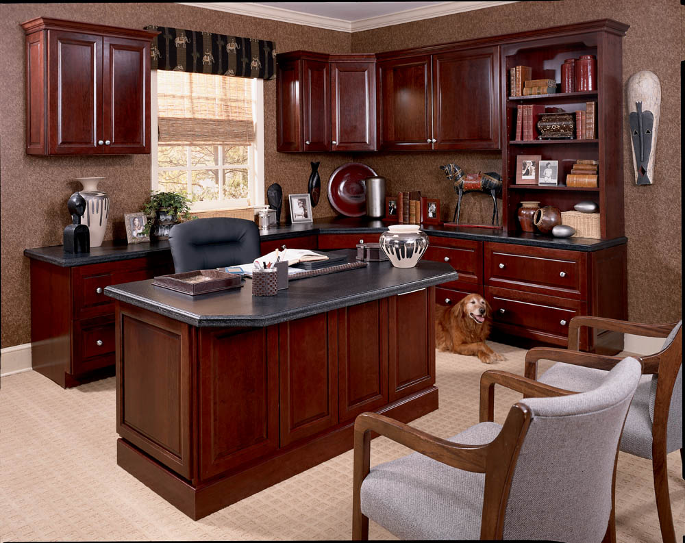 executive office decorating ideas. Wooden Home Office. A Cherry Wood Office Space Executive Decorating Ideas