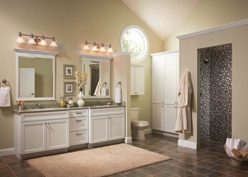 Bathroom ideas brown cream